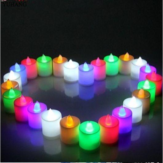 Искусственные свечи зеленые 3шт