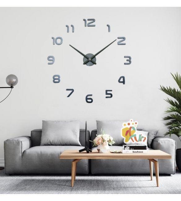 Часы настенные серые Сделай сам