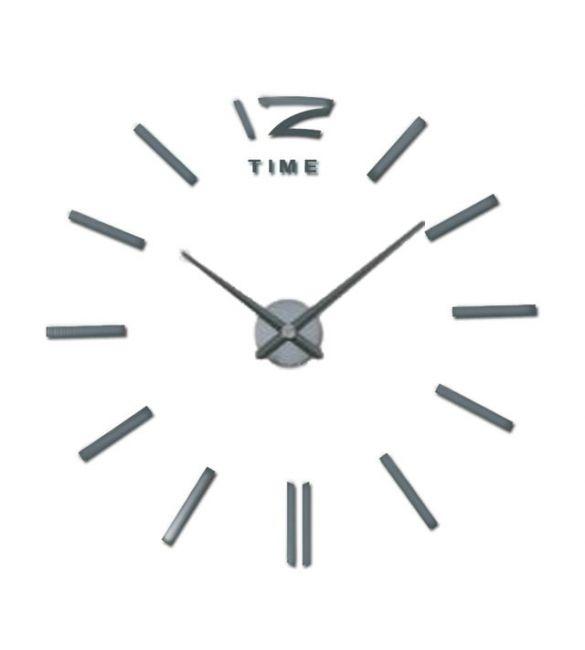 Настенные часы Сделай сам темно-серое зеркало