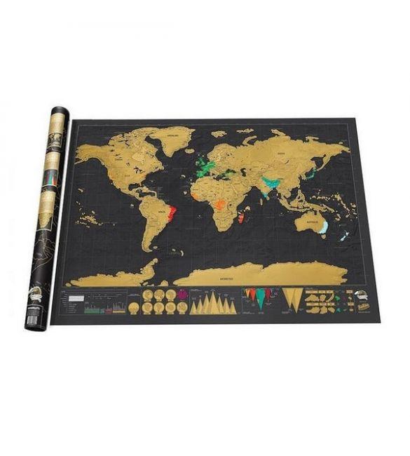 Стиральная карта Путешествие черная