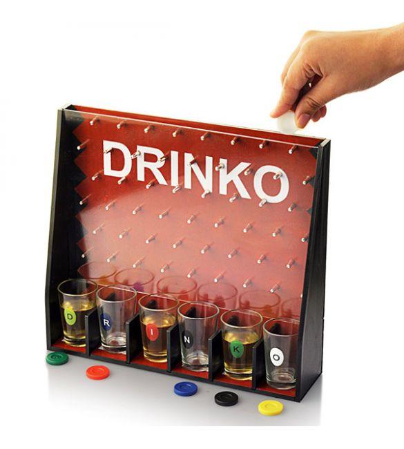 Пьяная игра Дринко со стопками