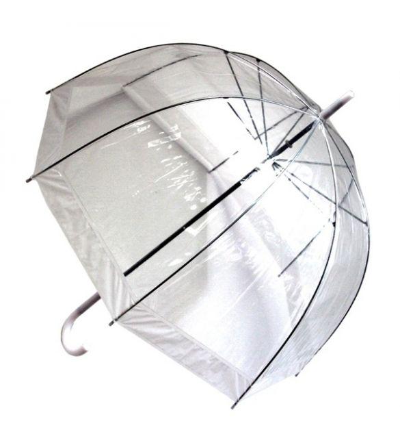 """Зонт """"прозрачный купол""""  белый"""