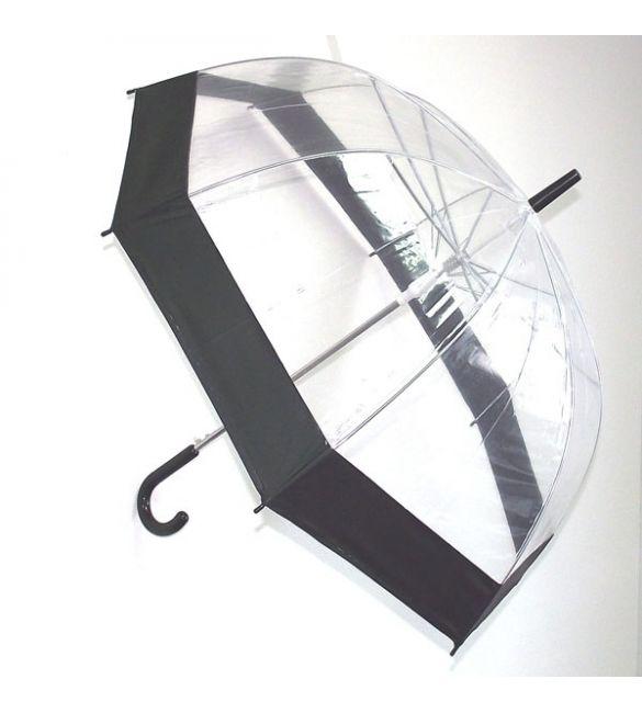 """Зонт """"Прозрачный купол"""" черный"""