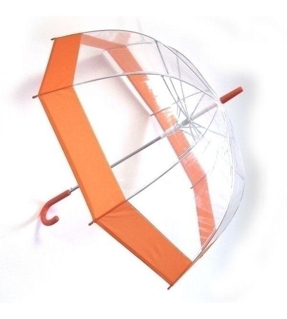 """Зонт """"Прозрачный купол"""" оранжевый"""