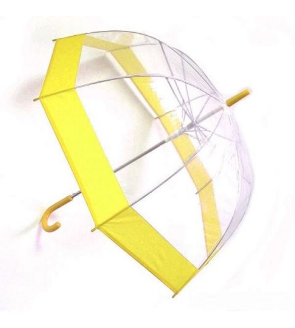 "Зонт ""Прозрачный купол"" желтый"