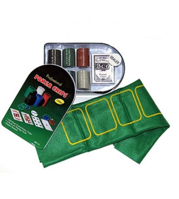 Набор для покера c сукном и номиналом 120 фишек