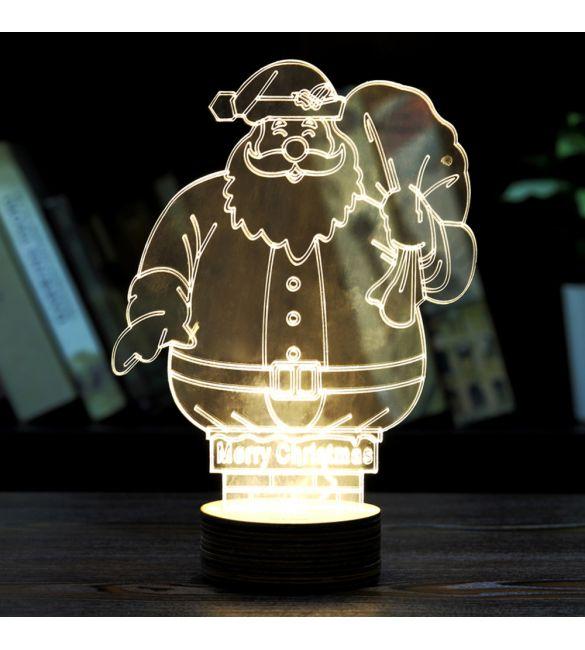 3D-светильник Дед мороз