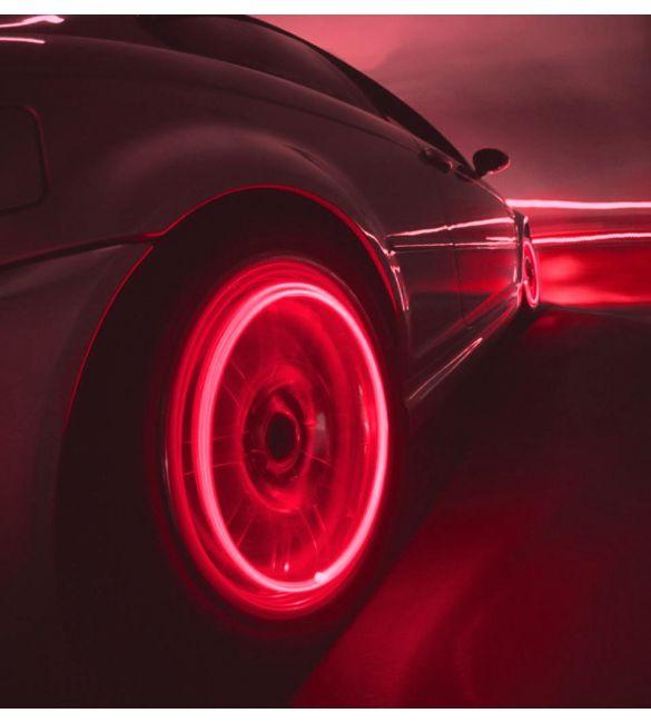 Светящиеся колпачки на ниппель красные