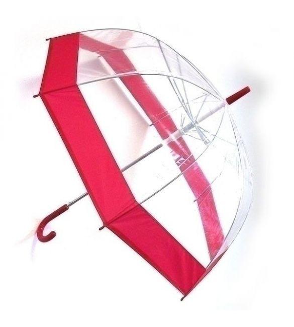 """Зонт """"прозрачный купол""""  красный"""