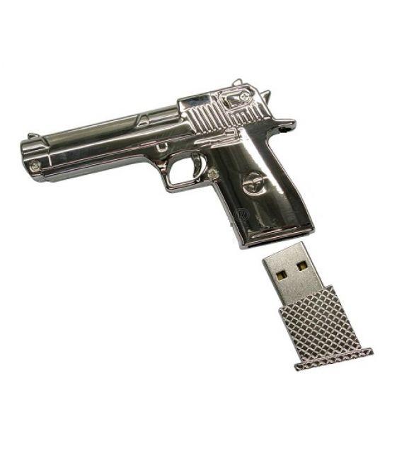 Флешка Пистолет  8Gb серебро