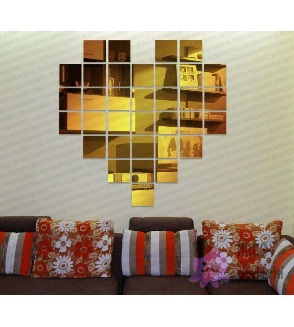 Зеркальное украшение GoldHeart