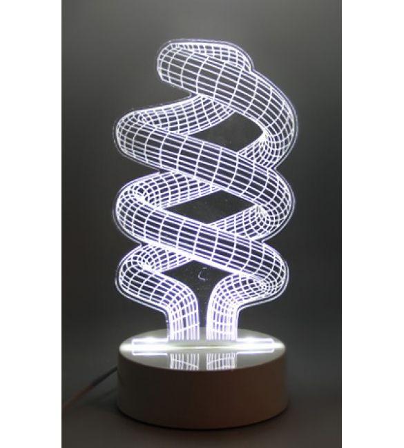 """3D светильник """"Спираль 2"""""""
