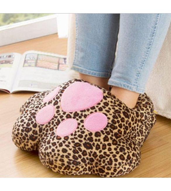 USB грелка для ног Леопардовая Лапка