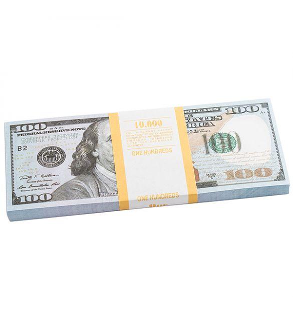 Пачка денег сувенирная 100 долларов