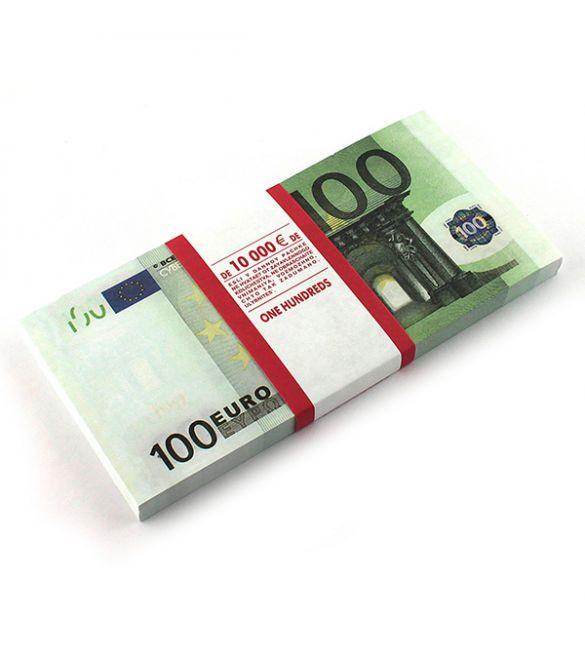 Пачка денег сувенирная 100 евро