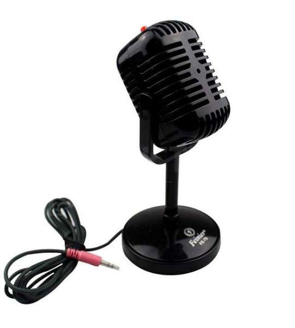 Ретро-микрофон черный