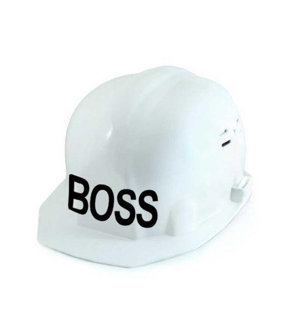 Каска строительная БОСС белая RUS