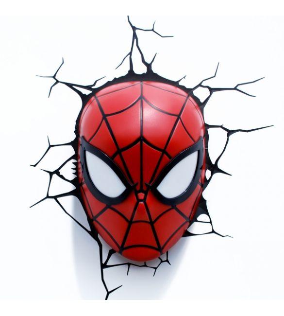 """Пробивной 3D светильник """"Спайдермен"""""""