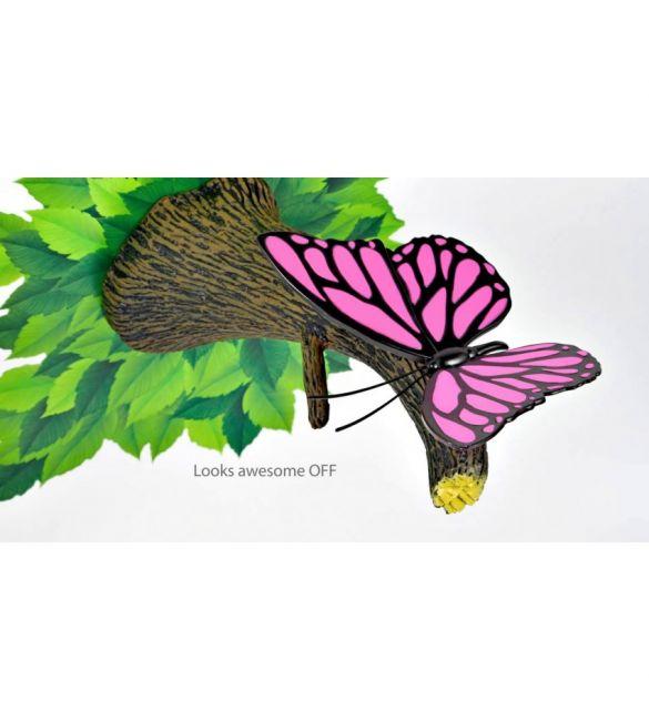 """Пробивной 3D светильник """"Бабочка розовая"""""""