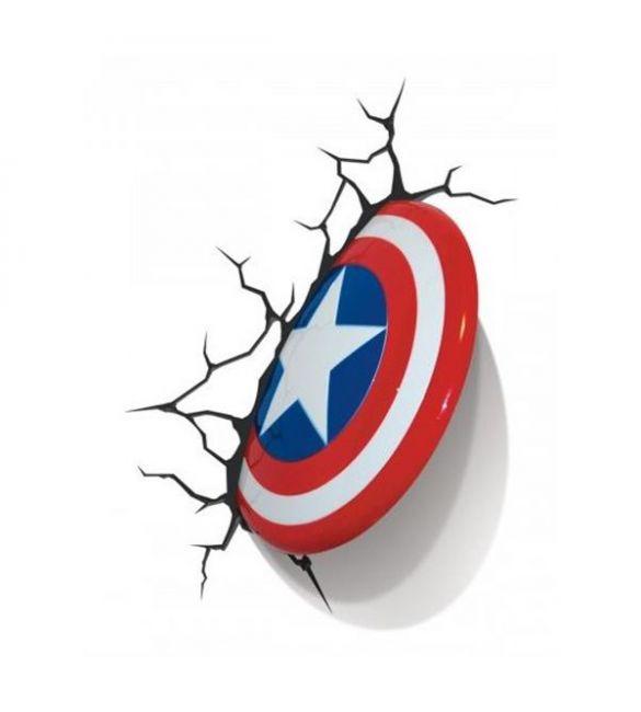 """Пробивной 3D светильник """"Щит Капитана Америка"""""""