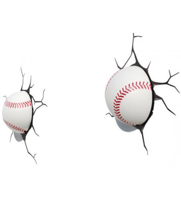 """Пробивной 3D светильник """"Бейсбольный мяч"""""""