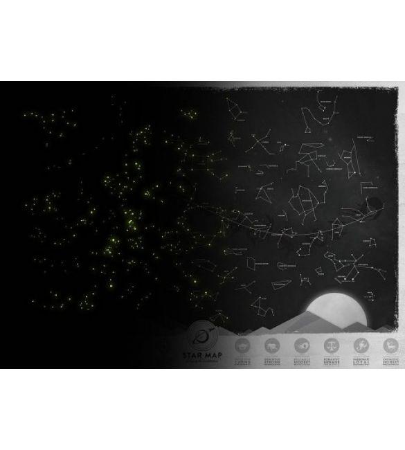 """Светящаяся карта созвездий """"Star Light Map"""""""