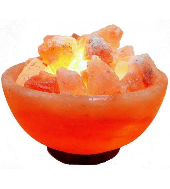 """Солевая лампа """"Огненная ваза"""" вес 2,5-3,0 кг"""