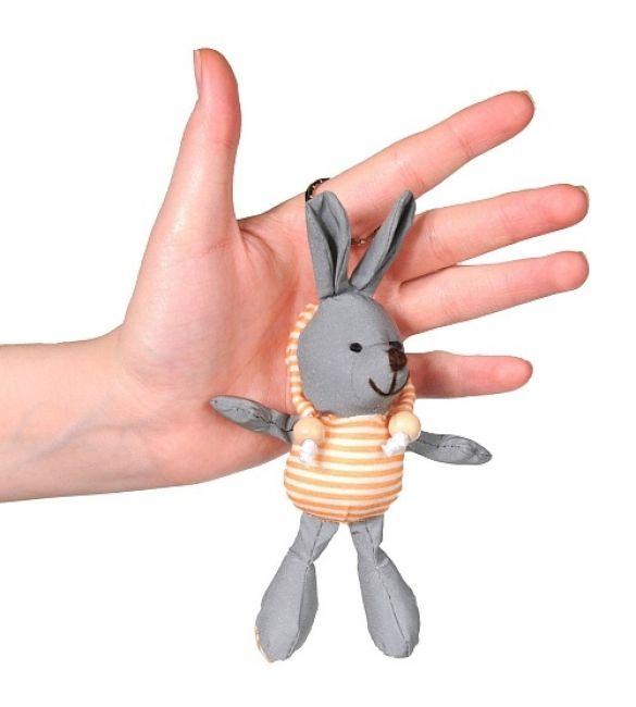 """Брелок светоотражающий """"Кролик в оранжевой кофте"""""""