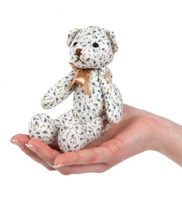 """Интерьерная игрушка Шебби-Шик """"Медведь"""" василек"""