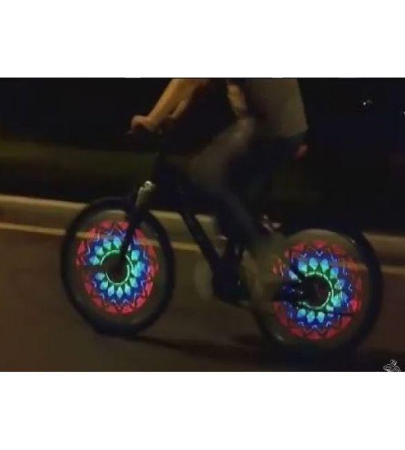 Подсветка вело-колеса 32 светодиода