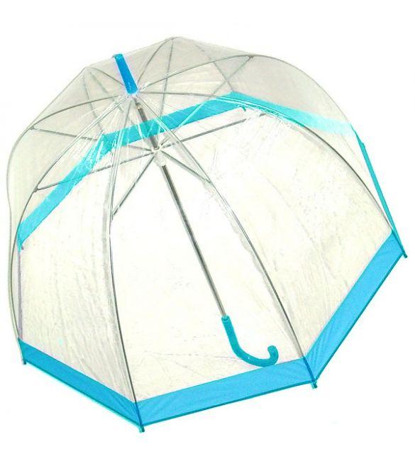 """Зонт """"Прозрачный купол"""" голубой"""